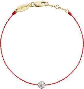 Redline Single Diamond Illusion Red String Yellow Gold Bracelet