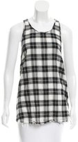 Raquel Allegra Plaid Print Sleeveless Top