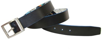 Robert Graham Buckler Reversible Printed Leather Belt