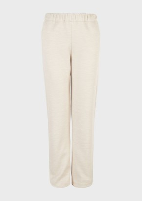 Giorgio Armani Joggers In A Wool And Silk Melange