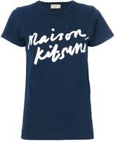 MAISON KITSUNÉ logo handwriting T-shirt - women - Cotton - M