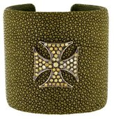 Loree Rodkin Stingray & Diamond Cross Cuff