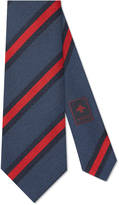 Gucci Web stripe silk cotton tie