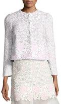 Giambattista Valli Lace Bracelet-Sleeve Jacket, Pink/White