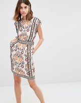 Warehouse Placement Print Sleeveless Dress