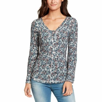 William Rast Women's Wilder Rose Drama Sleeve Henley Top