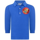 Moschino Boys Blue Teddy Polo Shirt