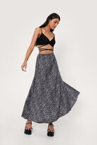 Thumbnail for your product : Nasty Gal Womens Flowy Abstract Maxi Skirt - Mono - 4