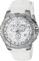 Swiss Legend Men's 40118-02 Super Shield Chronograph Dial Silicone Watch