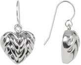 Simon Sebbag Sterling Silver Mini Braided Heart Drop Earrings