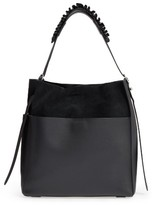 AllSaints Maya North/south Calfskin Tote - Black