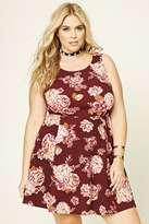 Forever 21 FOREVER 21+ Plus Size Floral Skater Dress