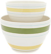 Southern Living Citrus Statements Collection Striped Earthenware Mixing Bowl