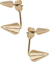 Topman Gold Spike Under Hook Earrings