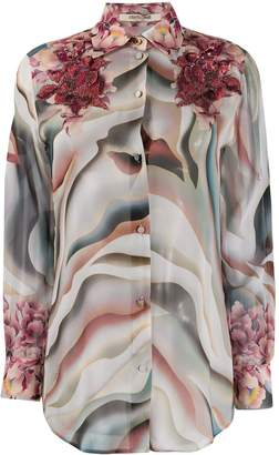 Roberto Cavalli Sistine Chapel print blouse