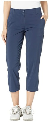 Skechers High Side Crop Pant (White) Women's Clothing