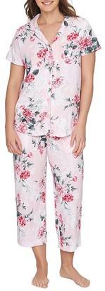 Karen Neuburger Floral Girlfriend Knit Cropped Pajama Set