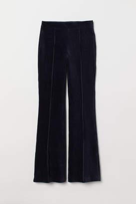 H&M Flared Corduroy Pants - Blue
