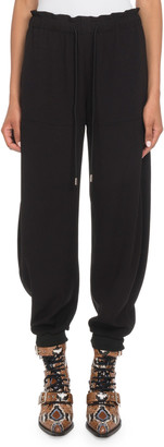 Chloé Crepe Pull-On Jogger Pants