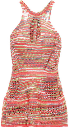 M Missoni Crocheted Cotton And Linen-blend Top