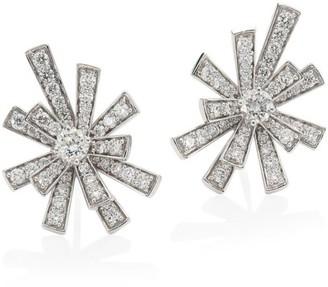 Hueb Labyrinth 18K White Gold & Diamond Earrings