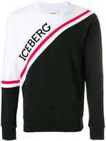 Iceberg colour-block logo sweatshirt