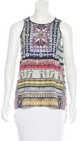Clover Canyon Printed Asymmetrical Top