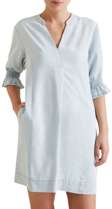 Seed Heritage Tencel Shift Dress Lt