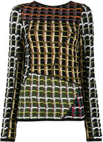 Marni patchwork style knitted jumper