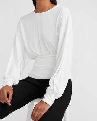 Express Banded Bottom Crew Neck Top