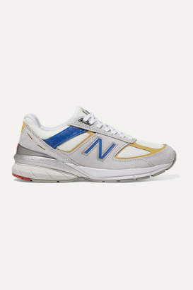 New Balance 990v5 Suede, Mesh And Faux Leather Sneakers - White