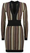 Balmain Lurex Striped Dress