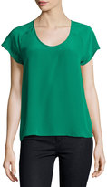 Joie Bellona Silk Short-Sleeve Top