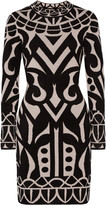 Temperley London Jani chenille-intarsia stretch-knit dress