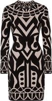 Temperley London Jani chenille-intarsia stretch-knit dress