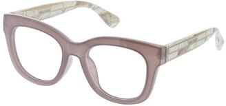 Peepers Women's Center Stage Luxe No Polarization Round Prescription Eyewear Frame Gray & Marble 51.6 mm