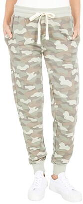 Alternative French Terry Raw Edge Joggers (Light Moss Shaded Camo) Women's Casual Pants
