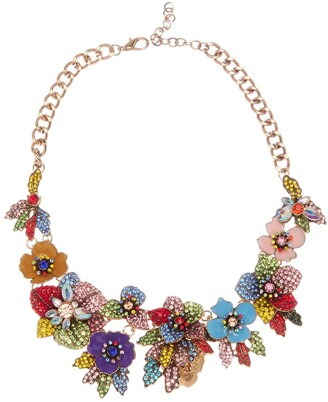 Eye Candy Los Angeles Amy Crystal Floral Necklace
