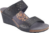 Aetrex Women's Danika Laser Cut Slide Wedge Sandal