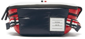 Thom Browne Padded Technical-shell Belt Bag - Navy