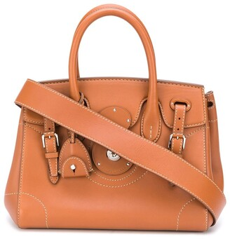 Ralph Lauren Collection Double Buckle Tote Bag