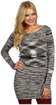 Kensie L/S Printed Sweater Dress (Tin Combo) - Apparel