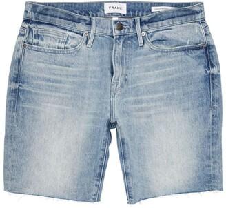 Frame Slim Distressed Denim Shorts