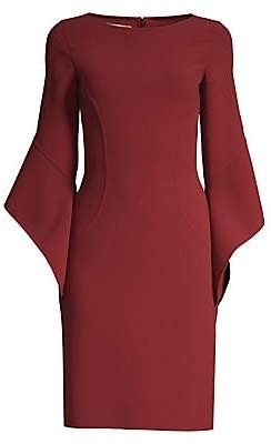 Michael Kors Women's Stretch Wool Crepe Drape-Sleeve Sheath Dress