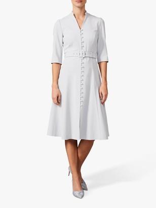 Phase Eight Iona Coat Midi Dress, Dusty Blue