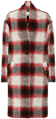 Etoile Isabel Marant Gabriel checked wool-blend coat