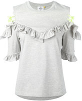 SteveJ & YoniP Steve J & Yoni P - open shoulder ruffle top - women - Cotton - M