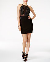 GUESS Penny Embroidered Illusion-Front Dress