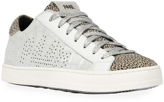 P448 John Iridescent Croco Sneakers