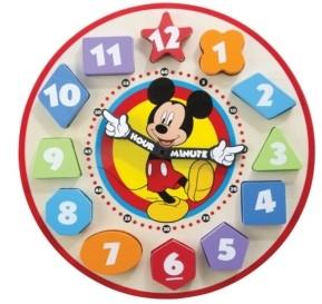 Melissa & Doug Mickey Mouse Wooden Shape Sorting Clock
